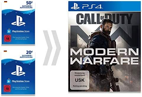 PSN Guthaben-Aufladung für Call of Duty - Modern Warfare | PS4 Download Code - deutsches Konto - Digital Standard Edition | PS4 Download Code - deutsches Konto