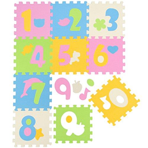 LittleTom TÜV Testato Tappeto Puzzle Bambini Tappetino Gioco Pastello Numeri