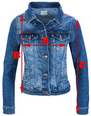 Rock-Creek-Damen-Jeans-Jacke-bergangs-Jacke-Denim-Blouson-Stretch-Kurz-Classic-Jeansjacken-Urban-Stonewash-D-401-Dunkelblau-M