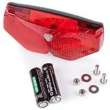 Ultrasport Luce Posteriore LED Automatica per Bicicletta, 5 LED, Accensione e Spegnimento Automatici in Caso di Oscurità e Movimento