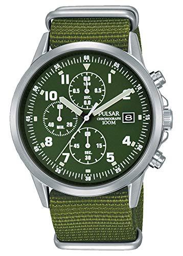Uomo stile militare Pulsar cronografo PM3127x 1-formale e enhanced PJN301x 1