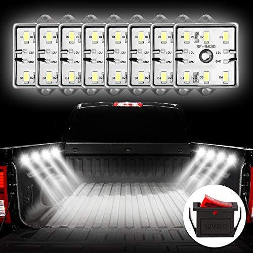 Favoto Kit LED Esterno 12V Lampade per Auto/Decorazione con Lampadine 6 * 8 SMD LED Impermeabili e 2...