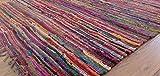 Hermosa alfombra multicolor Chindi Rag, comercio justo de Second Nature, algodón, Multi Colours, 150cm x 210cm