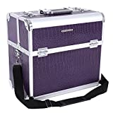 Songmics® Neu Alu Croco Beauty Case 36,5 x 22 x 35 cm
