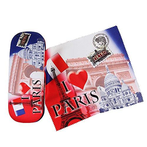 Custodia per occhiali Set Paris con micro faserve Lour bezogen Esclusivo