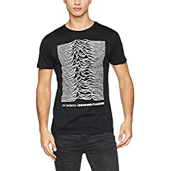 MERCHCODE Merch Código Hombre Joy divison Up Tee–Camiseta, hombre, MC075, negro, medium