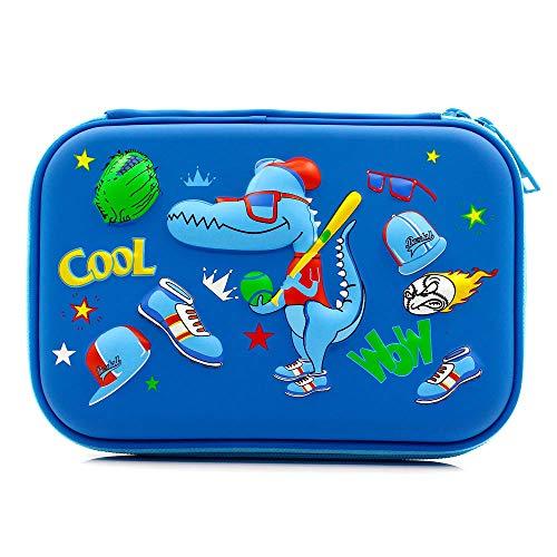 Cool Football scuola ragazzi Hardtop Pencil Case Big Pencil box con vano per bambini Royal Blue...