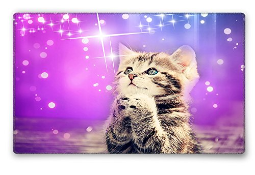 Silent Monsters Mauspad Größe S (240 x 200 mm) Stoff Mousepad Design: Katze, Vernähter Rand, geeignet für Büro und Gaming Maus 1003002017