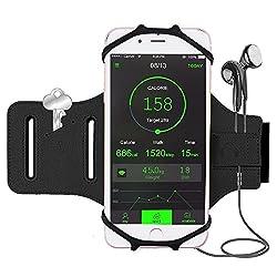 Kaufen Bovon Sport Armband für iPhone 7/7 Plus / 6 / 6S Plus, Open-Face Design mit Schlüsselhalter Ideal für Laufen Wandern Jogging, Kompatibel mit Samsung Galaxy S8 / S8 Plus / S7 / S7 Edge