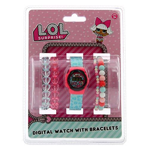 L.O.L. Surprise Orologio Digitale Bambina con Cinturino in Plastica 22050