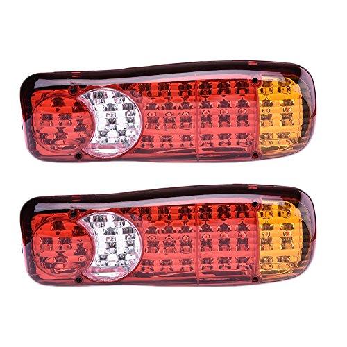 Luci posteriori a 46 LED per rimorchio, autocarro, luce di arresto, indicatore di direzione,...