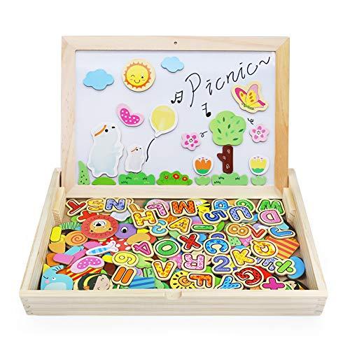 Magnetica Lavagna Giocattoli in Legno Puzzle Gioco da Tavolo Giochi Creativi Costruzioni per Bambini...