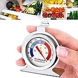 masrin Classic Zifferblatt Kühlschrank Gefrierschrank Thermometer Lebensmittel Fleisch Temperatur Gauge Küche silber