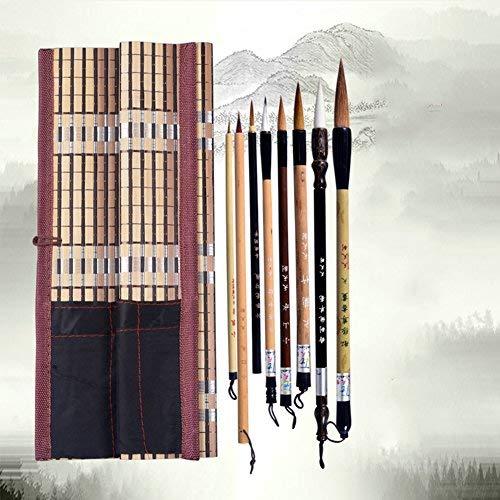 Serie de 8 pinceles de tinta profesional para la pintura y caligrafía de China