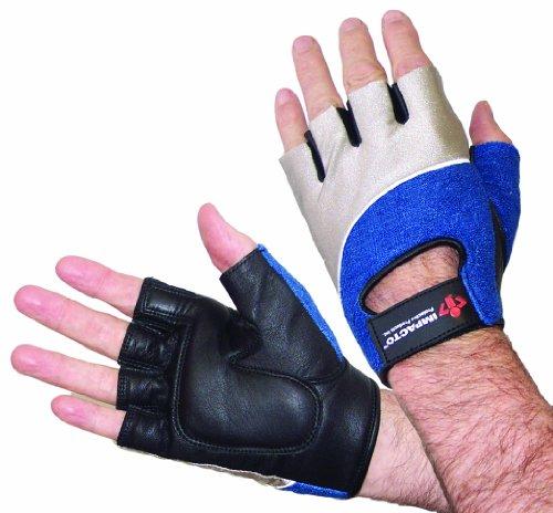Impacto 400-00 - Guanti da lavoro anti-shock in gel, colore: Nero/Blu/Grigio, taglia XL