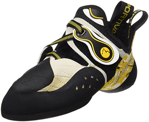 La Sportiva Solution Pies de Gato, Unisex Adulto, Blanco/Amarillo, 42.5