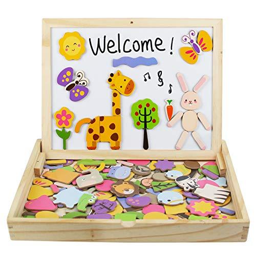 yoptote Puzzle Magnetico Legno Giocattolo di Legno Giochi Montessori Bambini con Lavagna Magnetica...