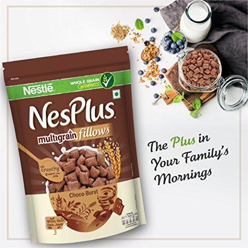 Nestlé NesPlus Breakfast Cereal, Multigrain Fillows - Choco-Burst, 250g Pouch 7