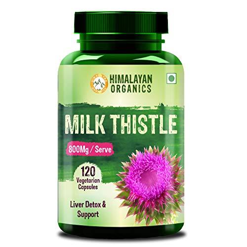 Himalayan Organics Milk Thistle Extract Silymarin 800mg - 120 Veg Capsules (1)