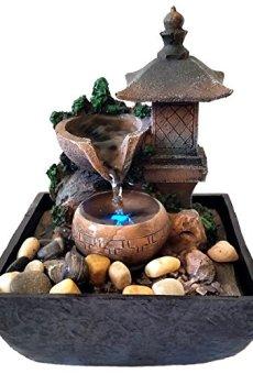 Fuente Zen para interiores con iluminación a led Linterna
