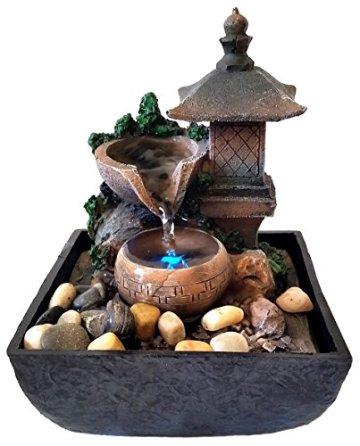 Fuente Zen para interiores con iluminación a led Linterna 3