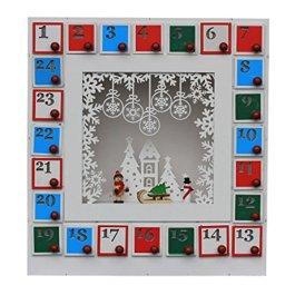 """'LED di Natale Calendario dell' Avvento """"Winter Kind, Slitta, Pupazzo di neve in l"""