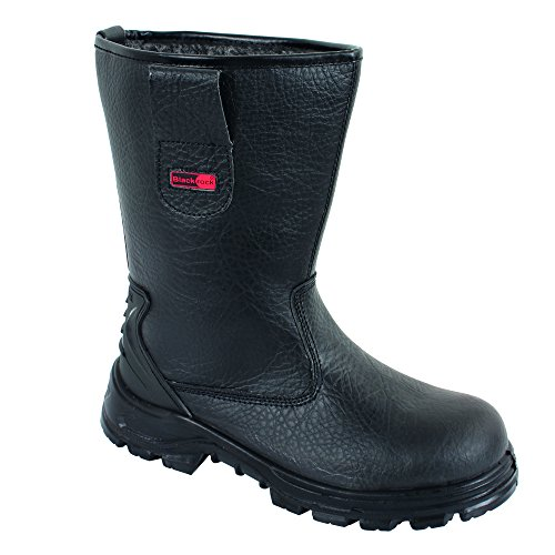 Are you in search of safety boots that are appropriate for light-handed work? Look no further. The Blackrock SF01B Fur Lined Safety Rigger Boots S1-P SRC will do just fine. The Wellington looking safety boots are easy to wear, walk in and remove. The pull straps are especially convenient when you have wide feet and you are trying to get through. The soles of these boots have great qualities such as anti-static and anti-slip features which are much appreciated. The fur lining keeps your feet warm as the energy absorbing soles keep your muscles pain free. These boots have a lot of pros, however, make sure they don't attend to heavy-handed tasks. They get damaged faster.