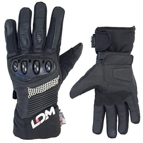 LDM EXOTec wasser- und winddichte Motorradhandschuhe, Schwarz 1