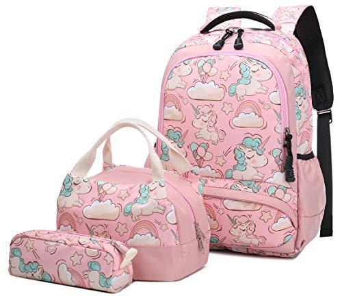 Zaino Unicorno Zaini Ragazza Bambina Backpack Set per la Scuola Zainetti Borsa Scolastici Carino...