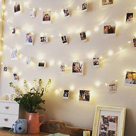 Tlcommande-Minuteur-RECESKY-Photo-Clip-Lampes–cordes-40-LED-85m-Guirlandes-de-la-batterie-Dcor-de-cadres-photo-Pour-lintrieur-maison-Nol-mariage-chambre–coucher