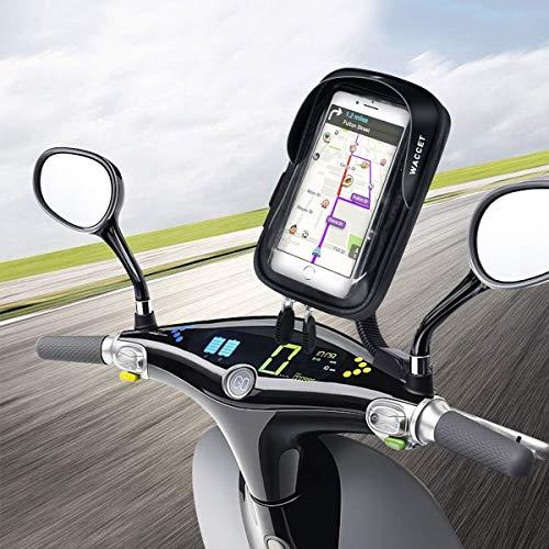 """WACCET Motorrad Handyhalterung Wasserdicht Motorrad Halterung 360°drehbar mit Touch-Screen Oberrohrtasche Handytasche Fahrrad für iPhoneXS MAX/XR/X/8/7/Samsung S9/S8 bis zu 6,5\"""" Smartphone"""