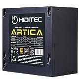 Hiditec Artica 500W ATX - Fuente de alimentación (500W, 230 V, 50 - 60 Hz, 20+4 pin ATX, 80 PLUS Bronze, Ventilador silencioso 120mm, Filtro EMI, Diseño ECO) Color negro