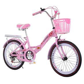 Bicicleta para niños, Bicicleta Plegable para niños de 18/20/22 Pulgadas con Freno, Bicicleta para niñas con Asiento…