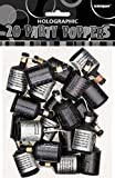 Unique Party 81222 - Glitz Black Birthday Party Poppers, Pack of 20