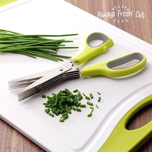 Always Fresh Kitchen Cut Tijeras Multicorte, Acero Inoxidable, Amarillo, 9 x 2 x 21,5 cm