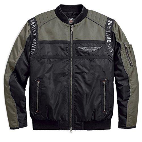 HARLEY-DAVIDSON Men's Mainstreet Nylon Bomber Jacket - 98583-17VM (L)