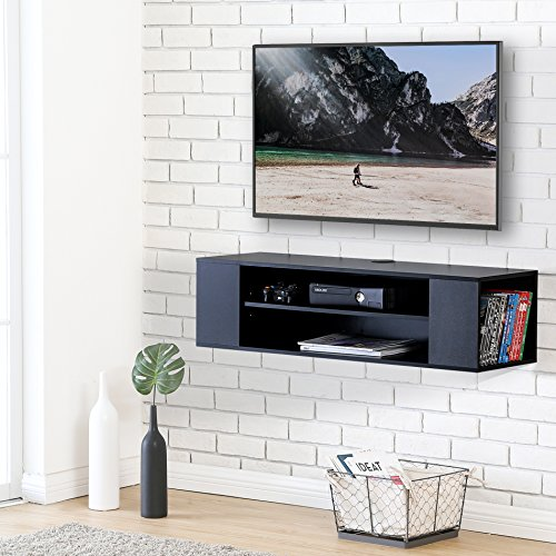FITUEYES Legno Mobile Porta TV per Audio Video Nero DS210002WB