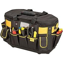 Stanley FatMax Werkzeugtasche / Werkzeugbeutel (50x33x31cm, mit runder Öffnung, formstabile Konstruktion, leicht zugängliche Fächer, ergonomischer Handgriff) FMST1-70749