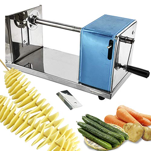 Abhsant Manual Stainless Steel Twisted Potato Slicer Spiral Vegetable Cutter French Fry
