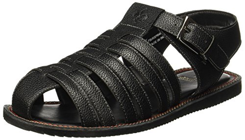 Bond Street by (Red Tape) Men's Black Sandals - 8 UK/India (42 EU)(RSP0481)