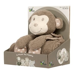 Bo Jungle Mono - Peluche y manta, unisex