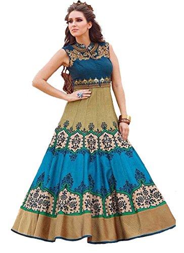 KURTI (In Women's Clothing Anarkali Heavy Cotton Silk Kurti by Way For Fashion (Women Kurti_11-4036_XL_Biege))