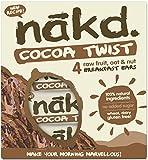 Nakd barras nutritivas chocolate avena – sin gluten, sin lactosa, cruda Certificado Paleo, Vegano   4 barritas dietéticas   Nakd