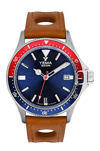 Orologio uomo–Yema–Pro Diver–Bracciale Pelle Miele...