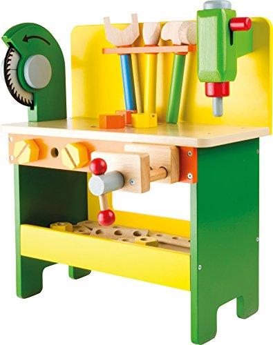 """1538 Banco da lavoro """"Christian"""" small foot in legno, giocattoli in legno incl. viti, dadi e tavole forate, a partire da 3 anni di età"""