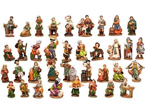 PABEN Set 36 Personaggi Presepe, 7 cm in Resina by