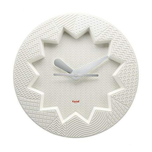 Kartell Crystal Palace Orologio da Parete in plastica, Bianco, 34 x 4 x 34 cm