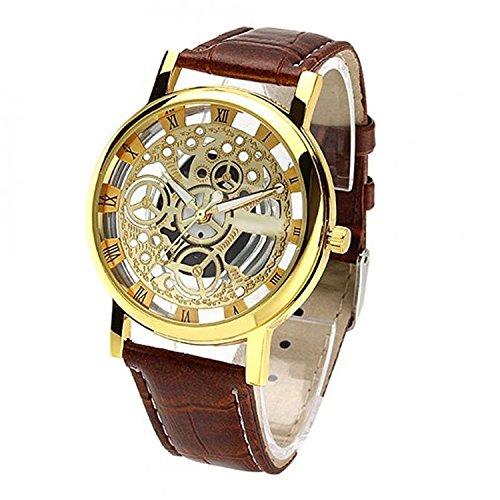 NEO VICTORYTM Analog Gold Skeleton & Gold Dial Men's Watch -(Best Gift for Men)