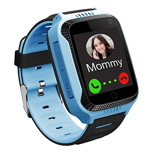 GPS Bambini Smartwatch Telefono - Orologi per Ragazzi con Step Counter Geo Fence SOS Torcia Flash...
