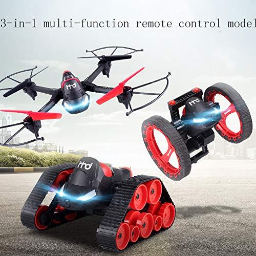 ZJYYD Aereo a Tre Assi Tre-in-Uno a Controllo remoto, Antenna Wi-Fi Variante Aerea Che rimbalza Serbatoio terrestre per Auto, modalità Senza Testa Drone con Luce a LED